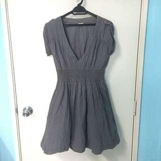 Grey Baby Doll Dress