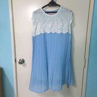 [BN] Maternity Baby Doll Dress In Sky Blue