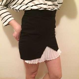 Zara 拼接雪紡窄裙
