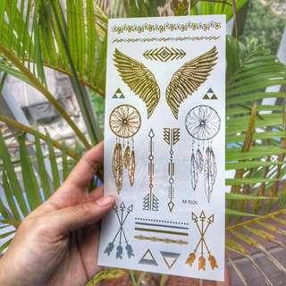 Bohemian Metallic Tattoos Gold