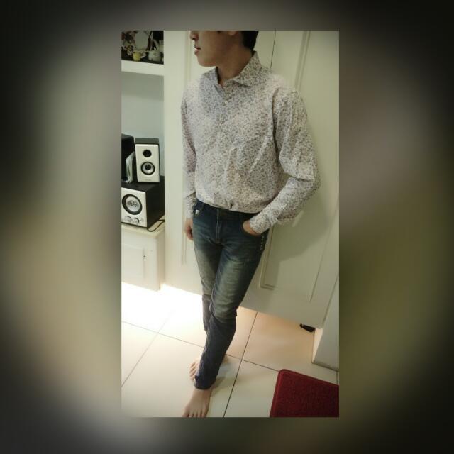 型男花襯衫