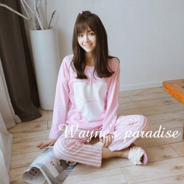 ✨韓系春秋款甜美風舒適長袖睡衣/居家服