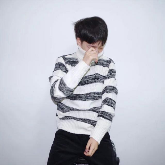 韓國高領保暖毛衣
