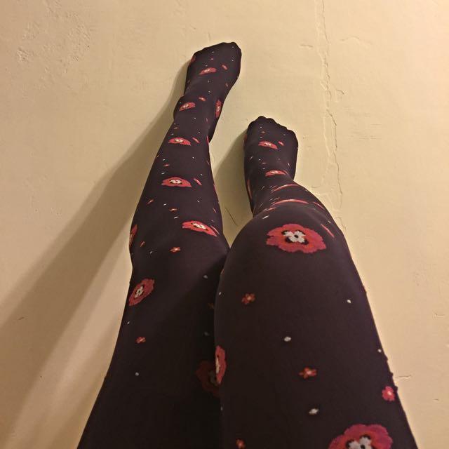 ANNA SUI 小3D花朵褲(絲)襪
