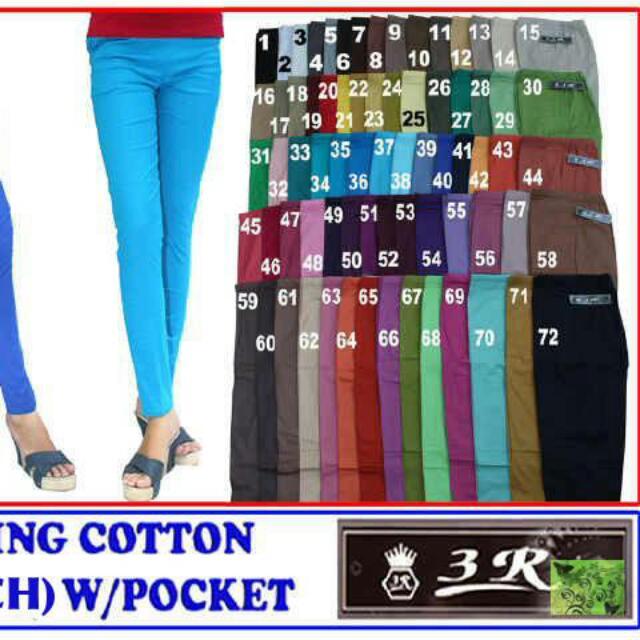Celana Legging Katun Stretch Merk 3r Fesyen Wanita Pakaian Wanita Bawahan Di Carousell