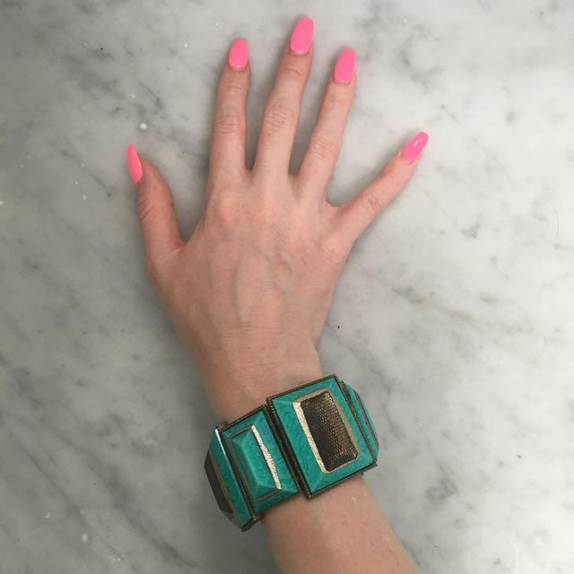 Chunky Turquoise Bangle