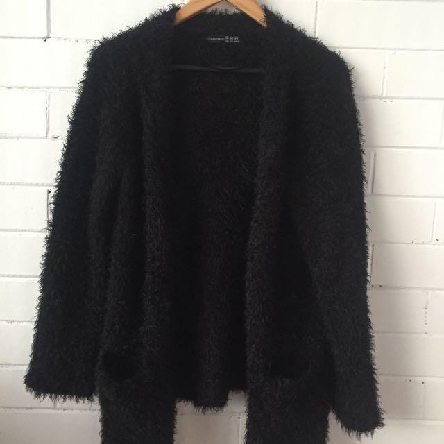 Furry Black Jacket
