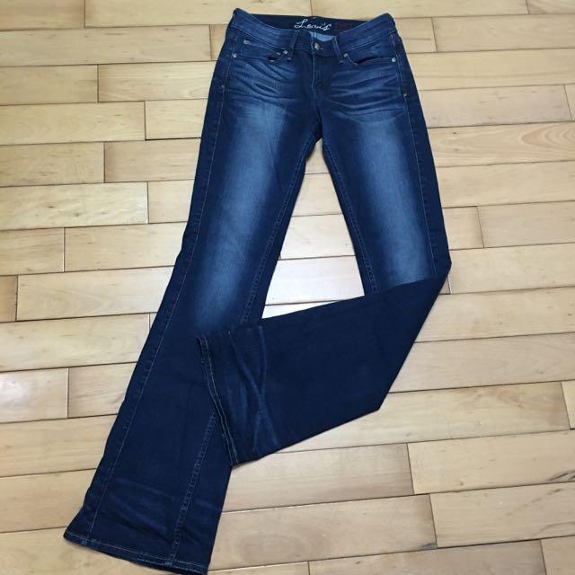 Levi's寬口刷色牛仔長褲(全新2手)