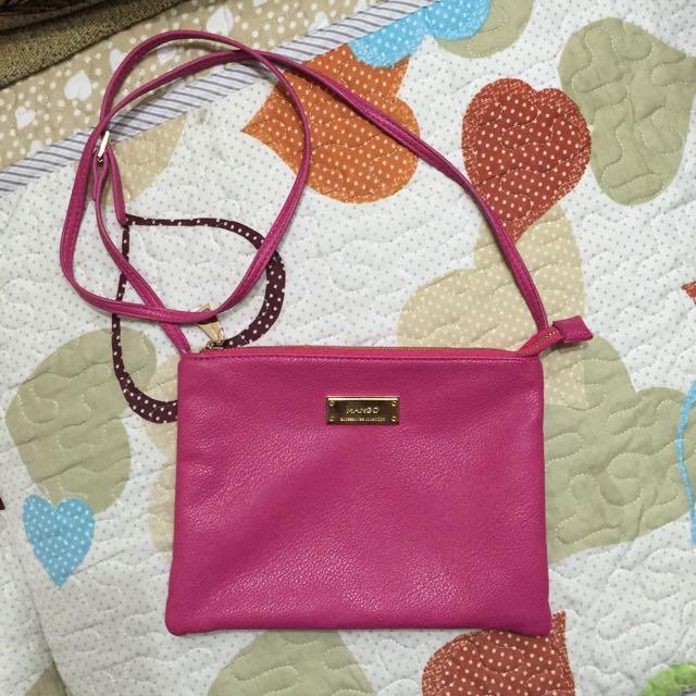 ✨Mango粉紅側背包✨