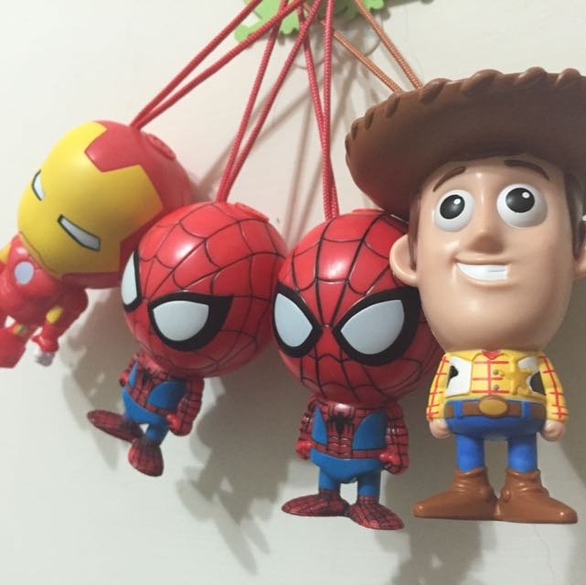MARVEL迪士尼公仔玩偶 胡迪/蜘蛛人/鋼鐵人