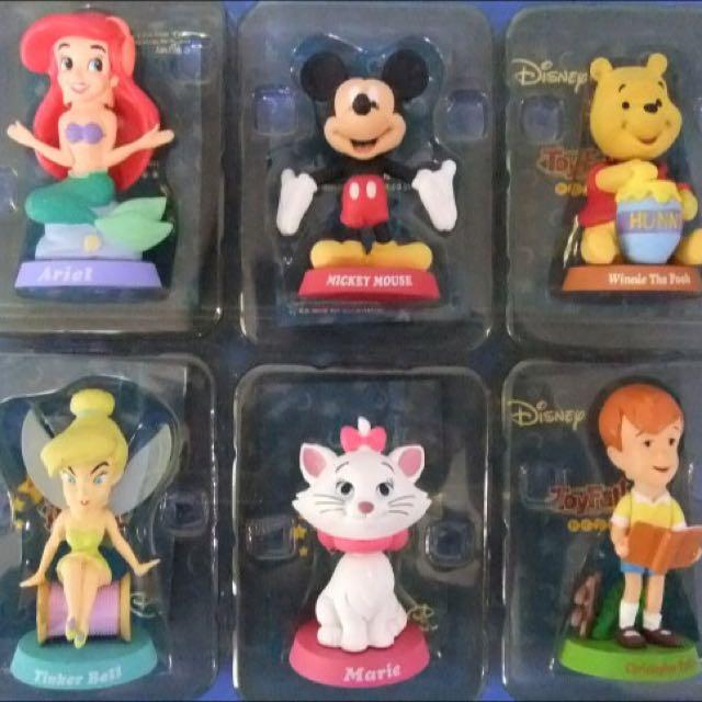 toyfull 盒玩 迪士尼 搖頭公仔 六款 合售