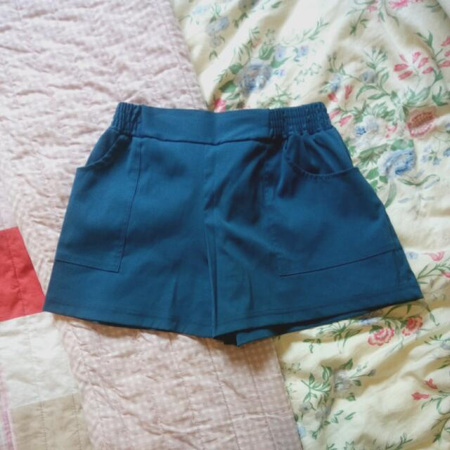 Vieso藍綠短褲