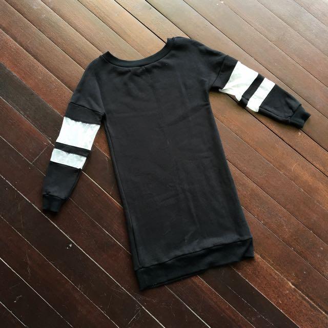 Zalora Black Sweater Dress
