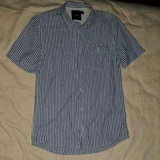 ASOS Striped Short-sleeved Shirt