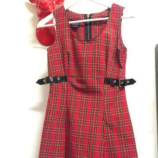 Gown Of Thorns Tartan PVC Dress