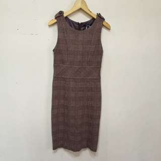 Mango - Mango Suit Preppy Wool Dress