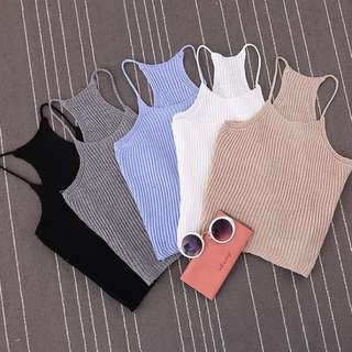 [PO] Knitted Strap Top