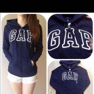 Gap深藍色薄刷毛外套