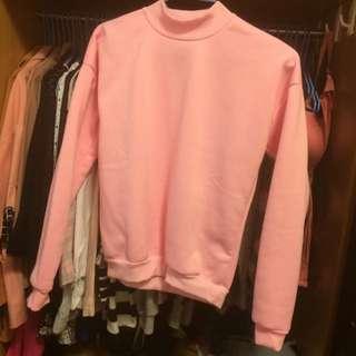 粉色大學T