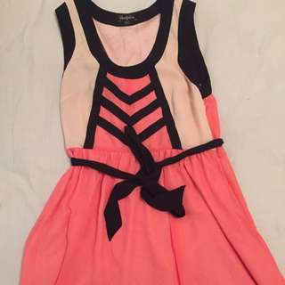 Myer Bluejuice Salmon Pink Dress
