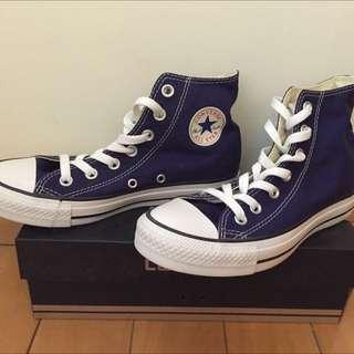 CONVERS 高筒帆布鞋 (藍紫)