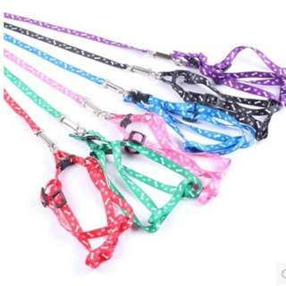 Pet Dog Cat Leash Chain Harness