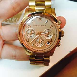 Michael Kors 玫瑰金手錶