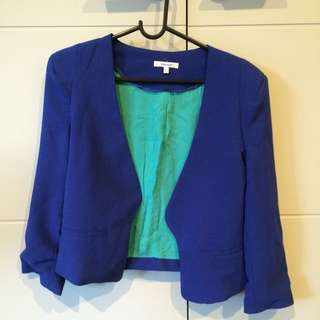 Valley girl blue blazer - Size 8