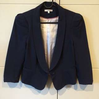 Dark Navy Valley girl Blazer- Size 10 But Feels Like 6/8 Size