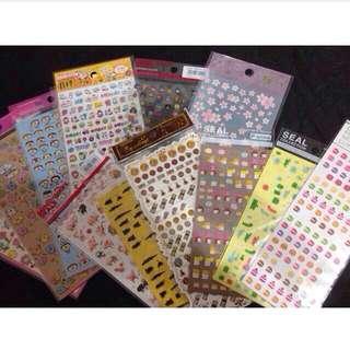 日本療癒手帳小貼紙