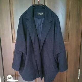 寶藍廓型薄外套