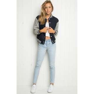 Brandy Melville carrie bomber jacket
