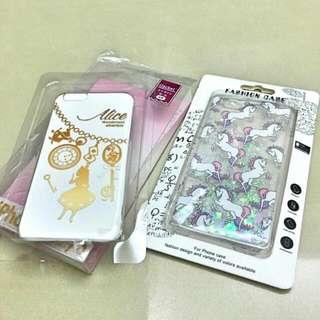 iphone6/6s獨角獸液體流沙手機殼+愛麗絲透明手機殼(免運)