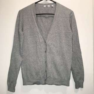 UNIQLO Grey V-Neck Cardigan