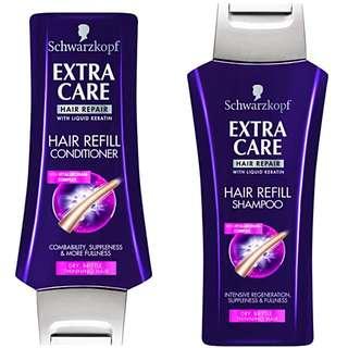 (下殺全新兩罐)《施華蔻Schwarzkpof》彈力保濕賦活洗髮乳、潤髮乳