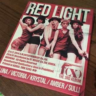 F(x) Red Light 韓壓 專輯+宋茜小卡