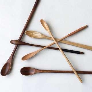 日式純手工木勺子原木餐具6款