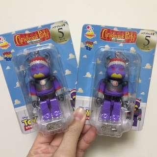 Bearbrick玩具總動員 聖誕版查克 札克