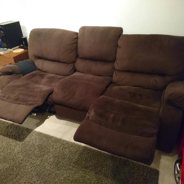 3 seater Sofa With Recliners On Both Sides