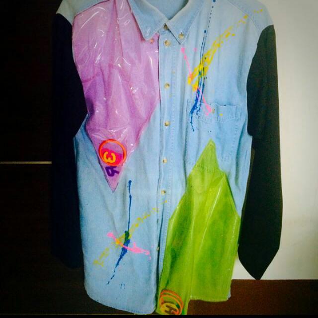 日本古著二手襯衫(9成新)可當外杉搭配 @ NT$350