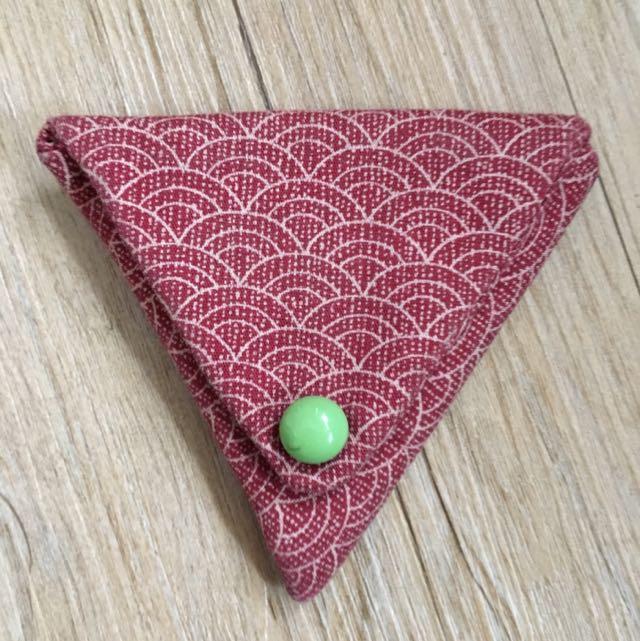 三角布製零錢包