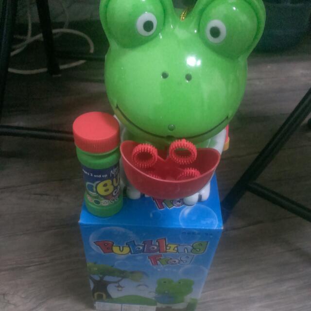 小青蛙吹泡泡玩具