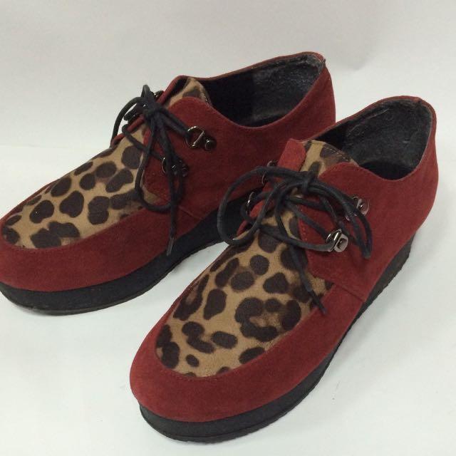 豹紋厚底鞋👟