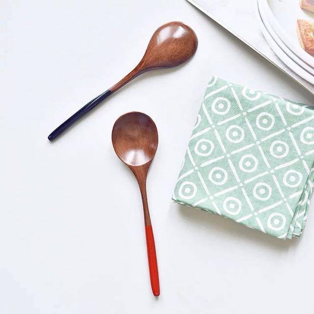 日式木勺情侣勺子套装