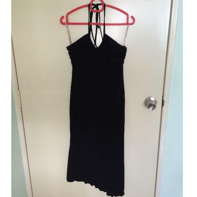 Black Halter Neck Dress (Brand STUDIO)