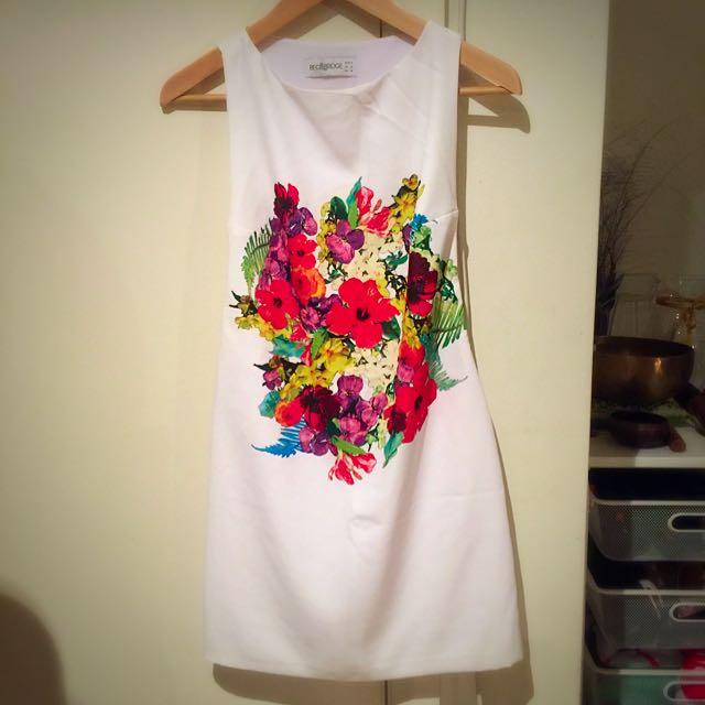 BNWOT Bec & Bridge White Bouquet Dress
