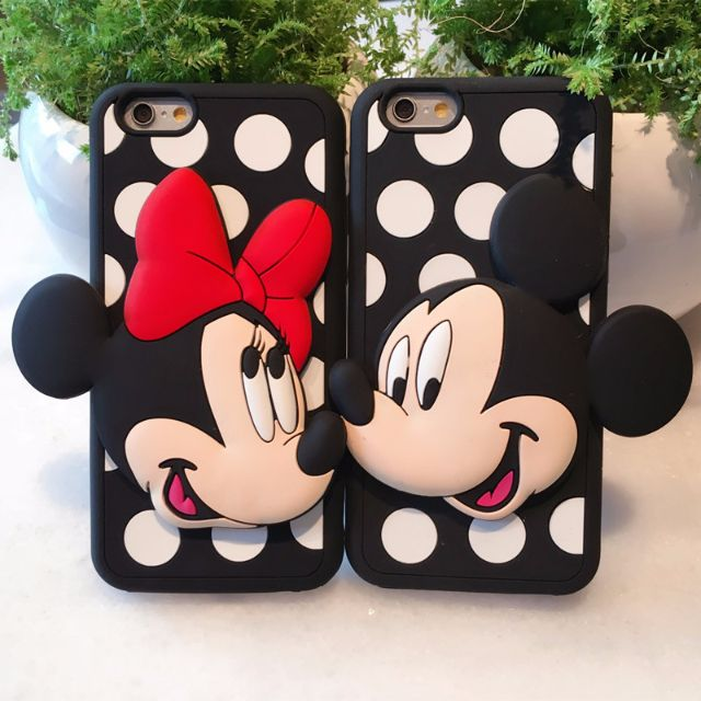 d04bb3fd72 ... Mickey and Minnie Mouse Cartoon Characters Couple HP Case (Silicon  Silicone Rubber Walt Disney Hand Cell Mobile Phone Casing Cover Cute  LoverBlack White ...