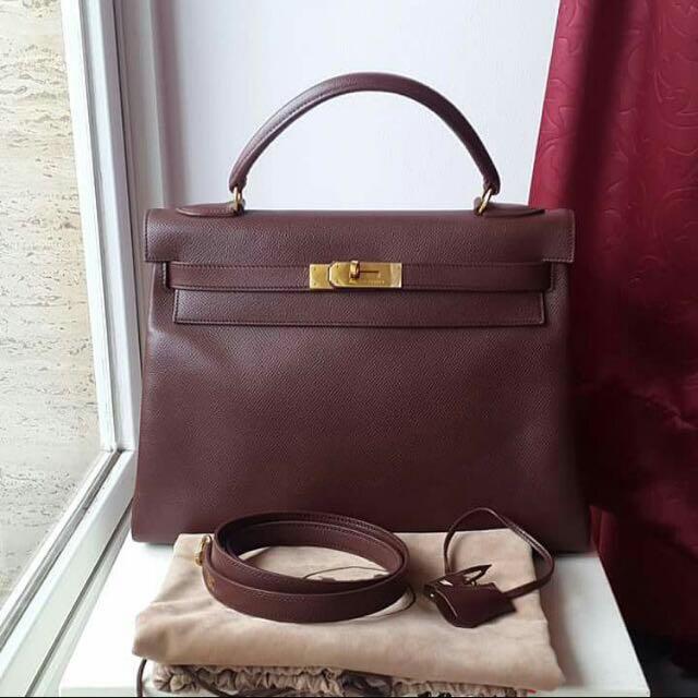 55bb8c14a1c8 ... ebay vintage hermes kelly 32 chocolate luxury on carousell f9da9 6efa2