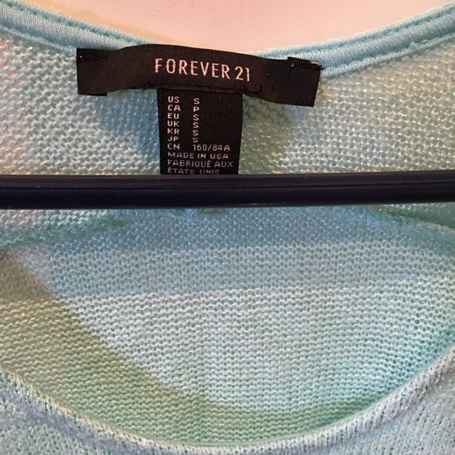 Forever 21 Size Small Aqua Knit