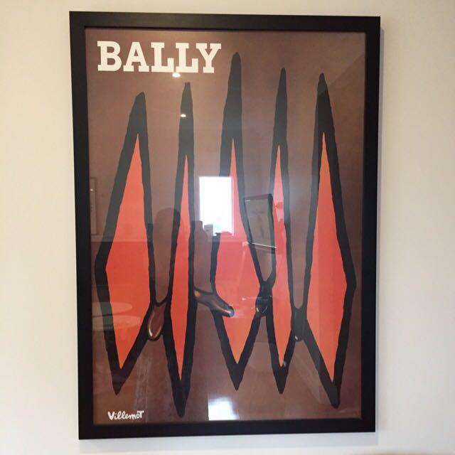 Framed Bally Print
